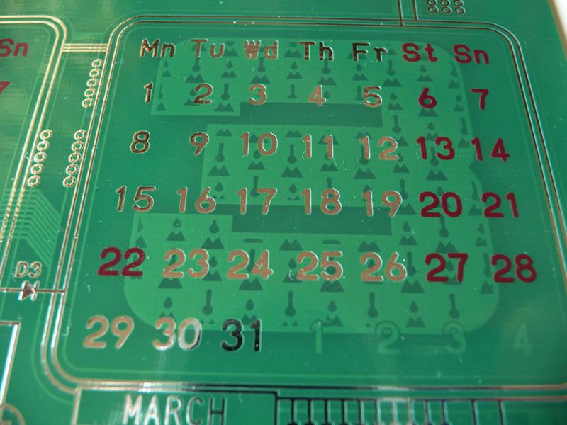 基板カレンダー