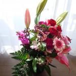 花に癒される朝
