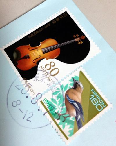 楽器の切手