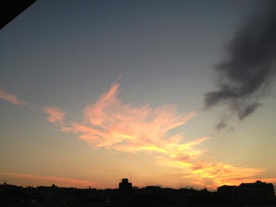 本日の空 夕焼け