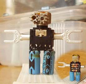 電子部品でつくったロボット
