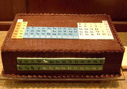 元素周期表ケーキ