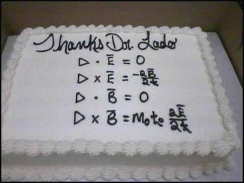 マクスウェルの方程式ケーキ